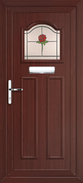 Rosewood glasgow sava fully fitted upvc front door for Upvc front doors fitted