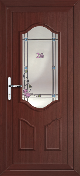 Rosewood greenwich modena fully fitted upvc back door for Back doors fitted