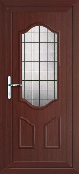 Rosewood greenwich square lead fully fitted upvc back door for Back doors fitted
