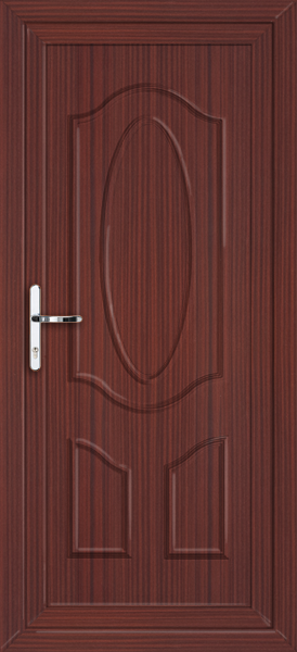 Mahogany haringley solid supply only upvc back door for Solid back doors