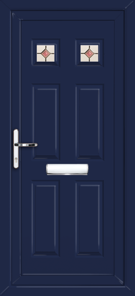 Blue harrow lamia fully fitted upvc front door for Upvc front doors fitted