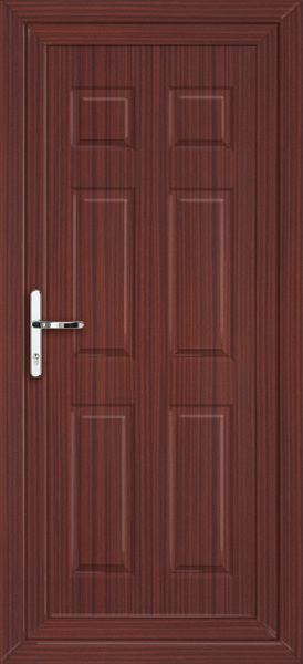 Mahogany harrow solid fully fitted upvc back door for Solid back doors