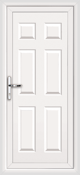 White harrow solid supply only upvc back door for Solid back doors