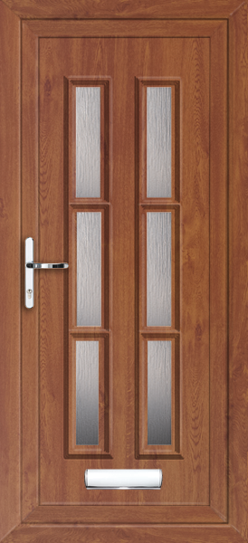 Oak havering arbon 6 fully fitted upvc front door for Upvc front doors fitted