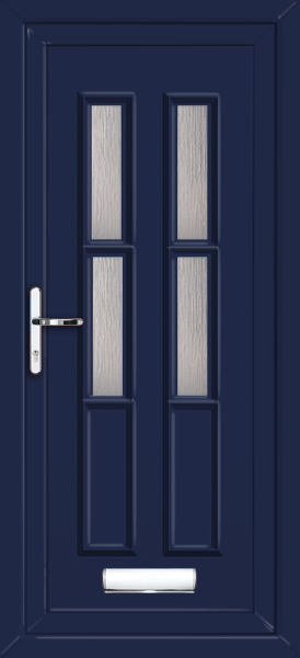 Blue havering arosa 4 fully fitted upvc front door for Upvc doors fitted