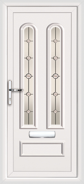 White Kingston Draco Supply Only Upvc Front Door