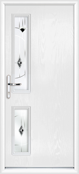 White lancashire black cavana fully fitted composite back door for White back door