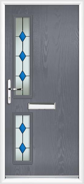 We do doors for Slate blue front door