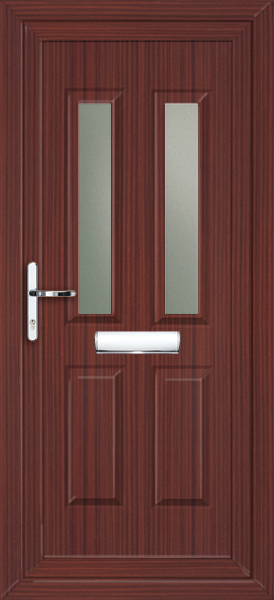 Upvc external doors mahogany for Mahogany door skin