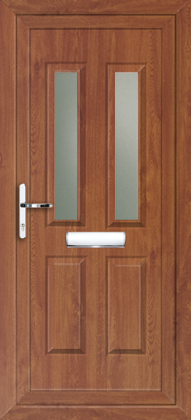 Oak Leeds Sella Fully Fitted Upvc Front Door