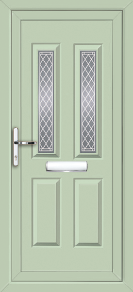 Chartwell green leeds shannon fully fitted upvc front door for Exterior doors fitted