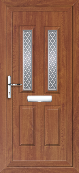 Oak leeds shannon fully fitted upvc front door for Exterior doors fitted