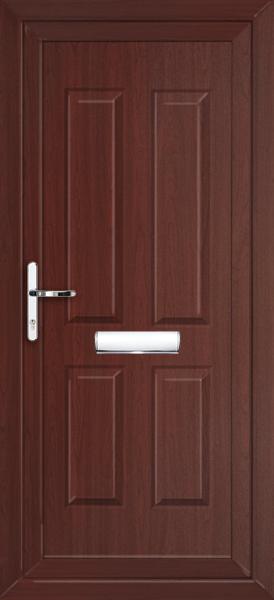 Rosewood Leeds Solid Fully Fitted Upvc Front Door