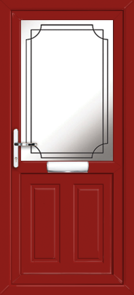 Red leicester lwd9 fully fitted upvc front door for Exterior doors fitted