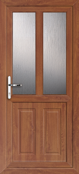Oak leicester melody 2 fully fitted upvc back door for Back doors fitted