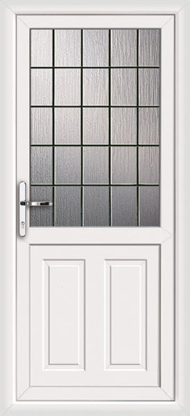 White leicester square lead fully fitted upvc back door for White back door