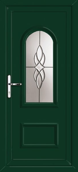 Green lewisham abbey fully fitted upvc back door for Back doors fitted