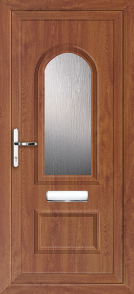 Oak lewisham canopus fully fitted upvc front door for Upvc front doors fitted