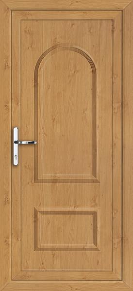 Irish oak lewisham solid supply only upvc back door for Solid back doors