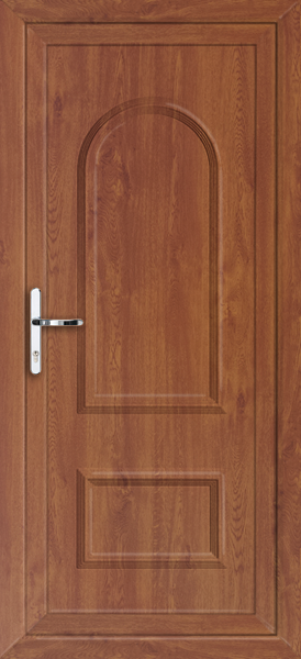 Oak lewisham solid fully fitted upvc back door for Solid back doors