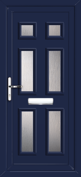 Blue newham alena 6 fully fitted upvc front door for Upvc doors fitted
