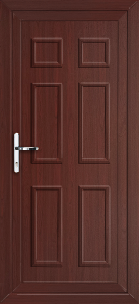 Rosewood newham solid supply only upvc back door for Solid back doors