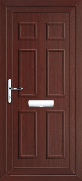 Rosewood newham solid fully fitted upvc front door for Exterior doors fitted