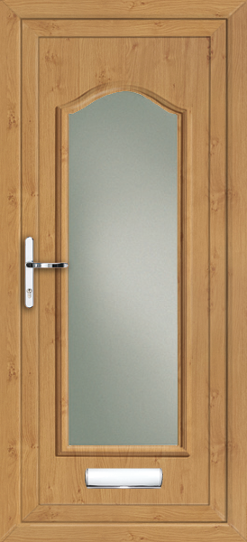 Irish oak oxford fully glazed clear obscured fully fitted for Upvc doors fitted