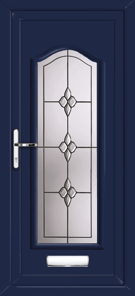 Blue Oxford Classic Cluster Supply Only Upvc Front Door