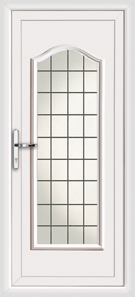 White oxford fully glazed square lead supply only upvc for White back door