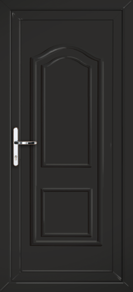 Black oxford solid supply only upvc back door for Solid back doors