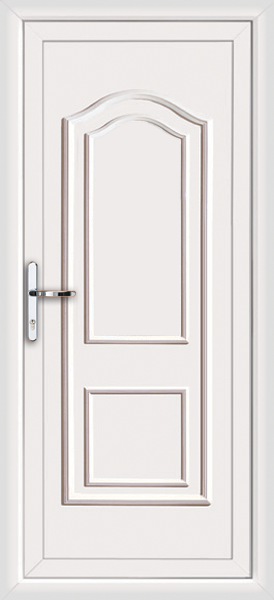 White oxford solid fully fitted upvc back door for White back door