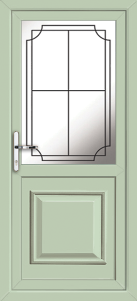 Chartwell green reading lwd19 fully fitted upvc back door for Upvc doors fitted