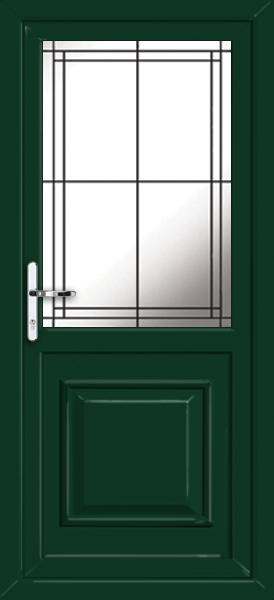 Green reading lwd21 fully fitted upvc back door for Upvc doors fitted
