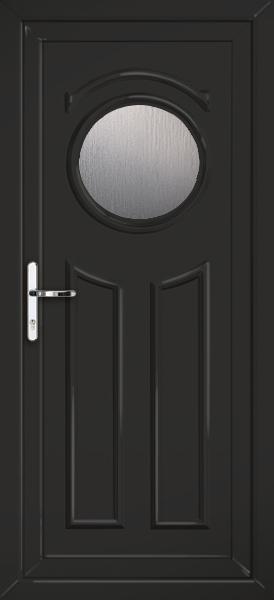 Black redbridge deacon fully fitted upvc back door for Back doors fitted