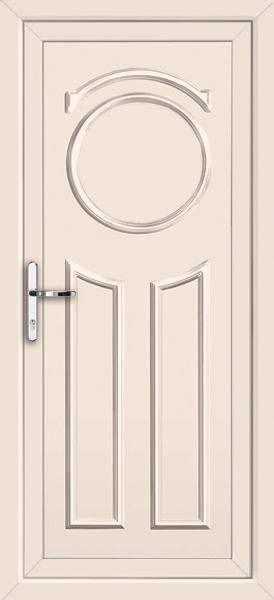 Cream redbridge solid supply only upvc back door for Solid back doors