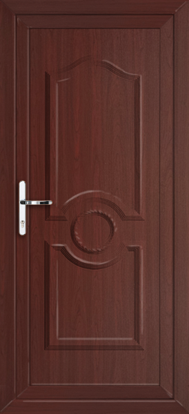 Rosewood sheffield solid supply only upvc back door for Solid back doors