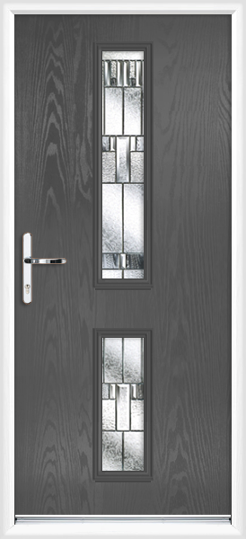 Anthracite grey tyne zinc prairie fully fitted composite for Back doors fitted
