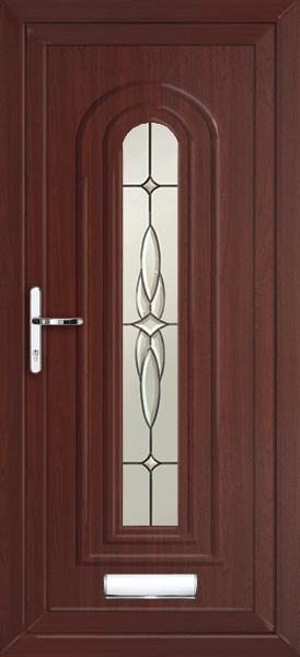 Rosewood waltham elsa fully fitted upvc front door for Upvc front doors fitted