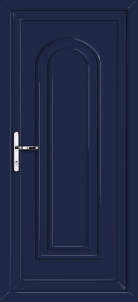 Blue waltham solid supply only upvc back door for Solid back doors