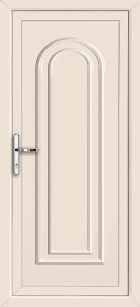 Cream waltham solid fully fitted upvc back door for Solid back doors