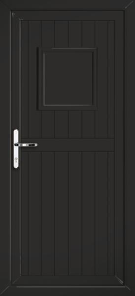 Black upvc back door for Solid back doors
