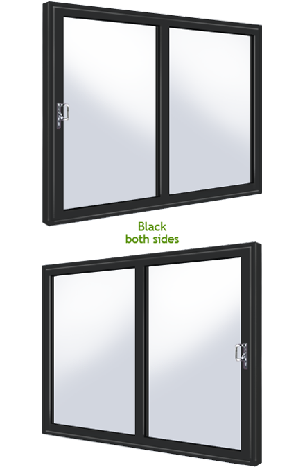 White black 2 panel upvc supply only upvc sliding patio door for Black upvc patio doors