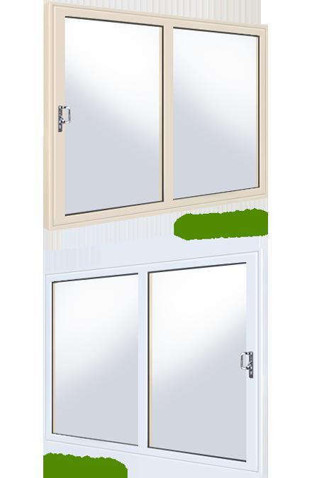 White cream over white 2 panel upvc fully fitted upvc for White upvc patio doors