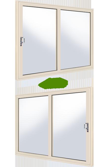 Cream 2 panel upvc sliding patio door for Upvc sliding patio doors