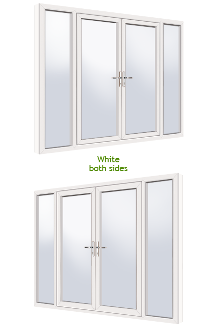White White Upvc French Doors Fully Fitted Upvc French Door