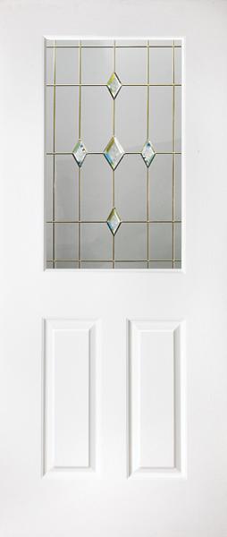 White Half Glazed Kinghorn White Supply Only Upvc Internal Door