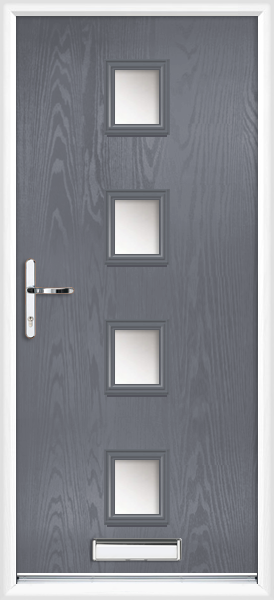Slate Grey Worcester Anice Fully Fitted Composite Front Door