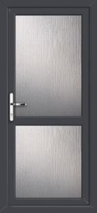 Anthracite Grey Supply Only Fully Glazed Upvc Back Doors