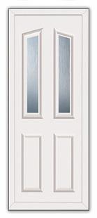 White Croydon 2 Elbe Supply Only Upvc Door Panels